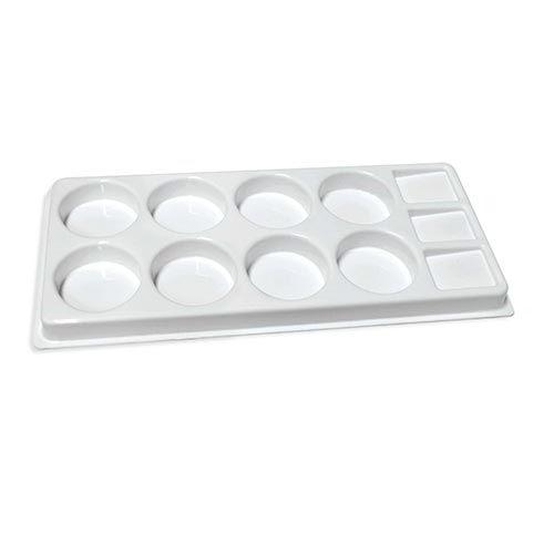 Plastpalett för 8 Tempera puckar (4F) 08988