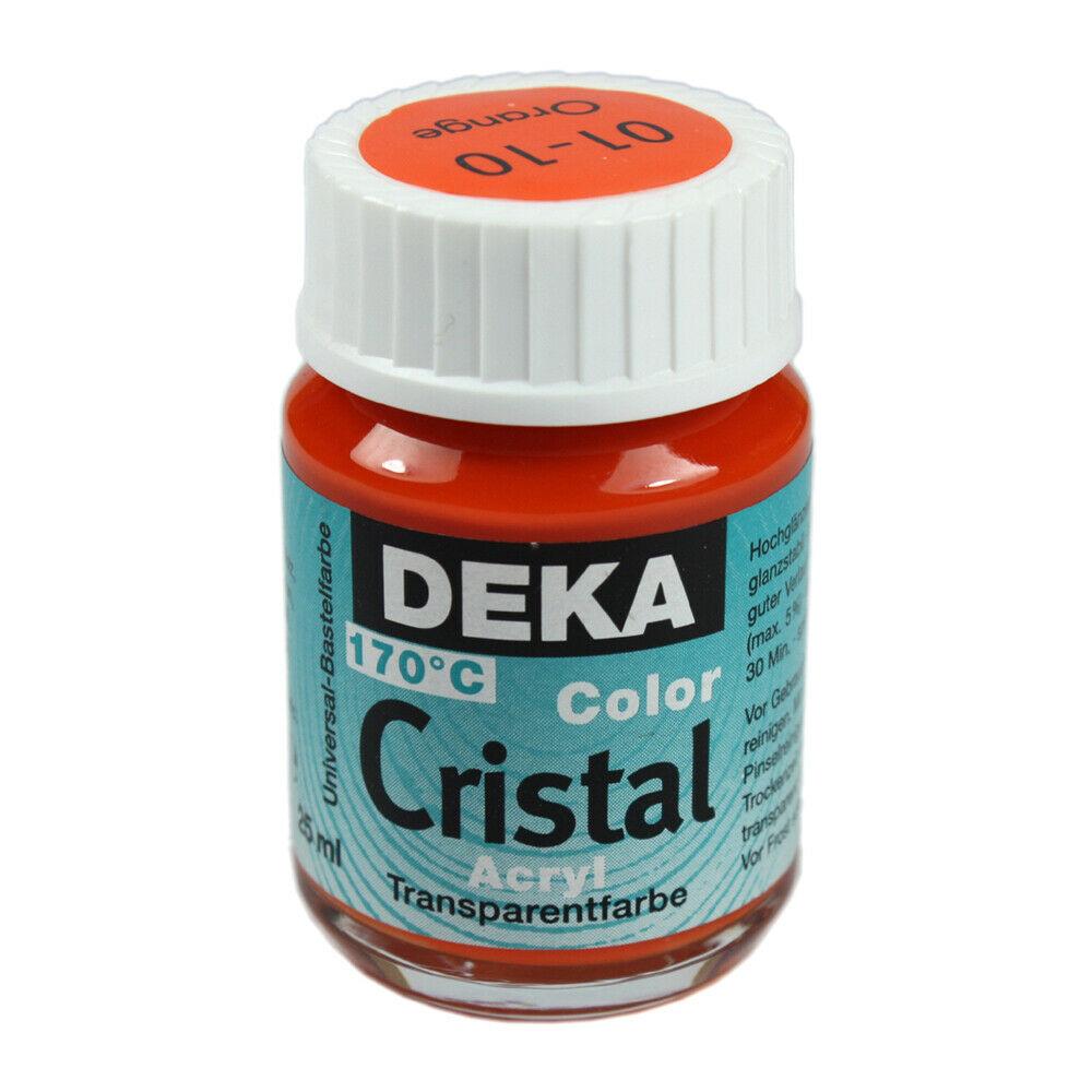 Glasfärg DEKA ColorCristal 25 ml Orange  0110 (6F)