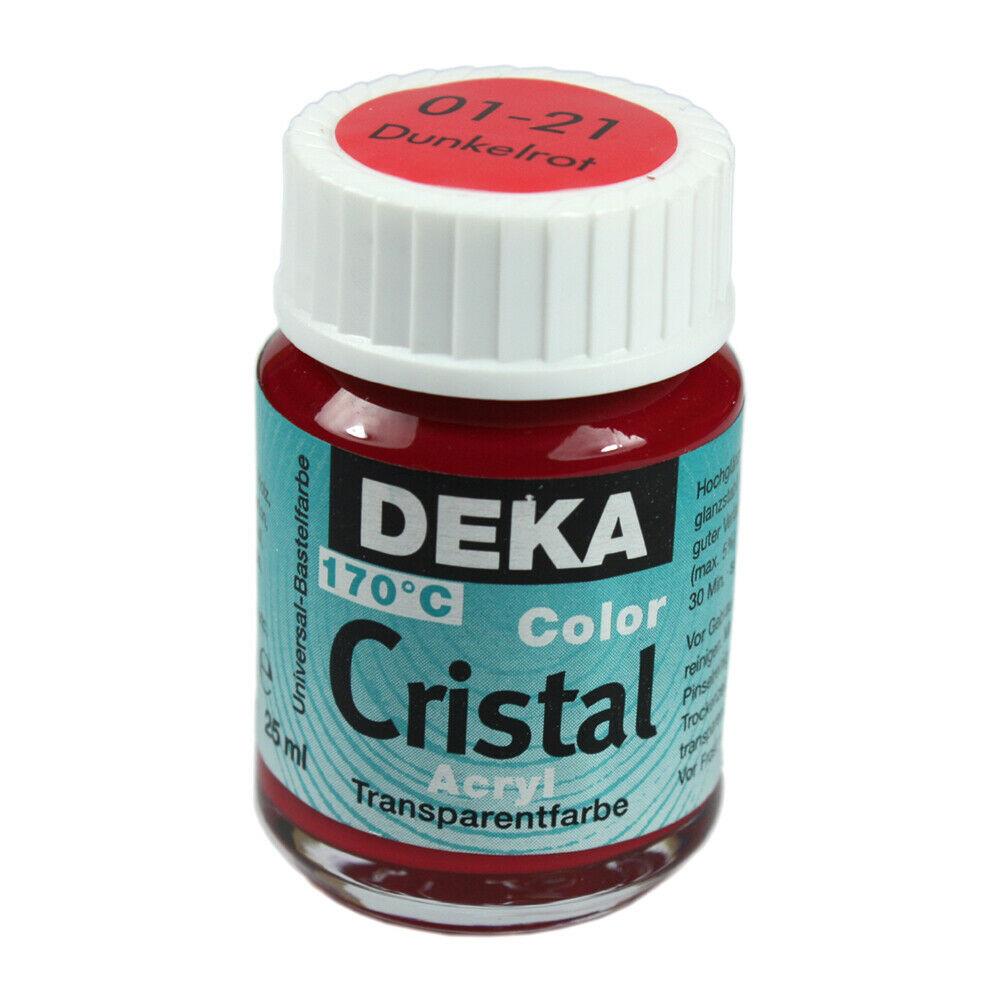 Glasfärg DEKA ColorCristal 25 ml Dunkelrot  0121 (6F)
