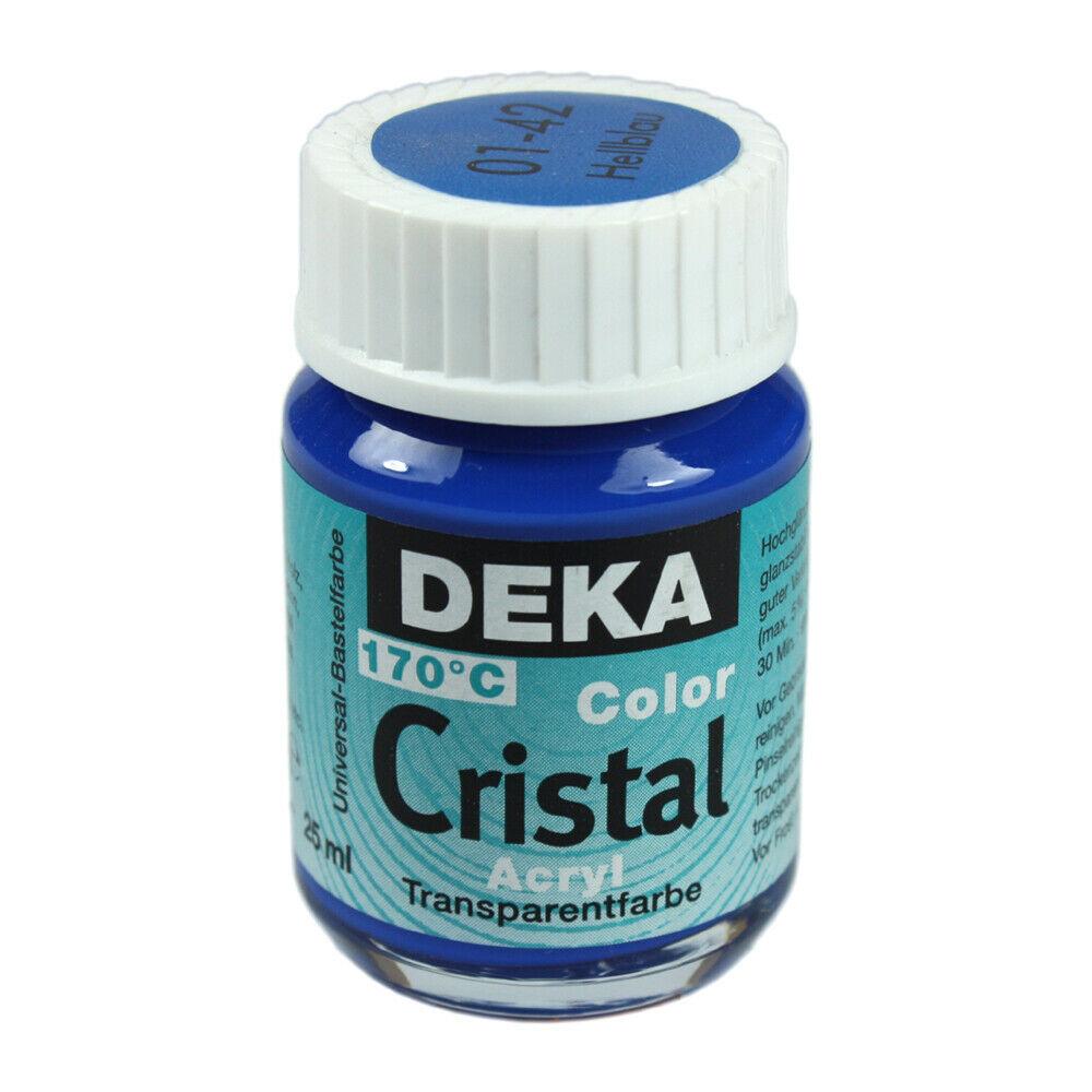Glasfärg DEKA ColorCristal 25 ml Hellblau  0142 (6F)