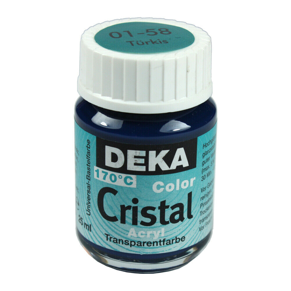 Glasfärg DEKA ColorCristal 25 ml Türkis  0158 (6F)