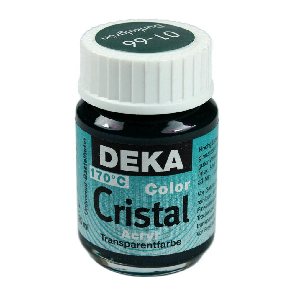 Glasfärg DEKA ColorCristal 25 ml Dunkelgrün  0166 (6F)