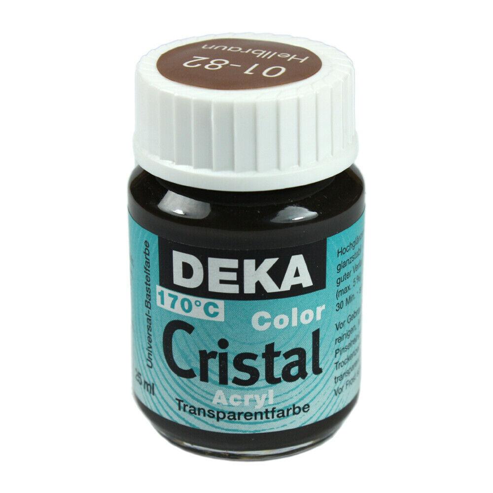 Glasfärg DEKA ColorCristal 25 ml Hellbraun  0182 (6F)