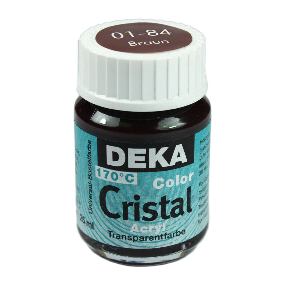 Glasfärg DEKA ColorCristal 25 ml Braun  0184 (6F)