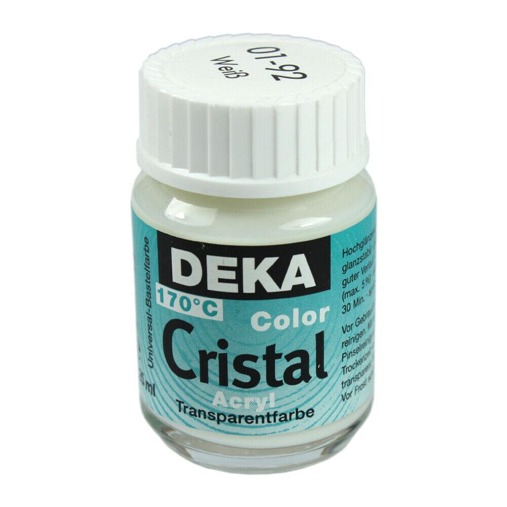 Glasfärg DEKA ColorCristal 25 ml Weiss  0192 (6F)