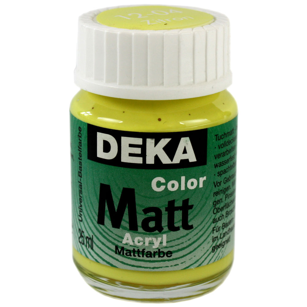 Hobbyfärg DEKA ColorMatt 50 ml Citron  1204 (6F)
