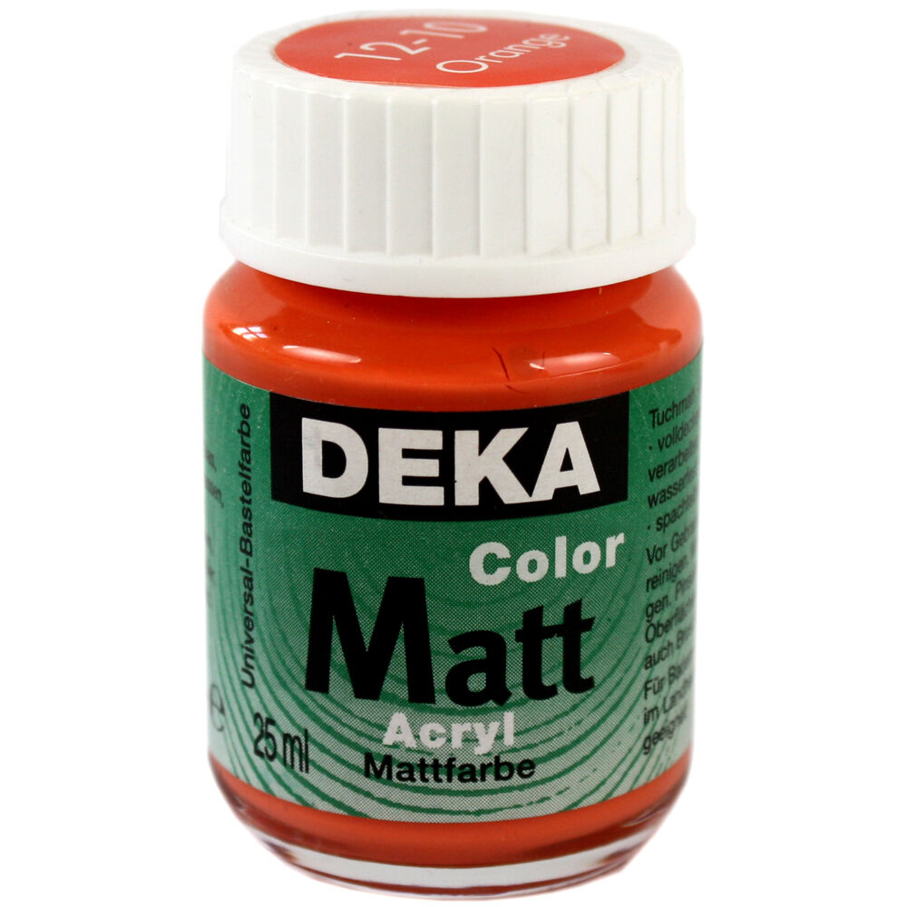 Hobbyfärg DEKA ColorMatt 50 ml Orange  1210 (6F)