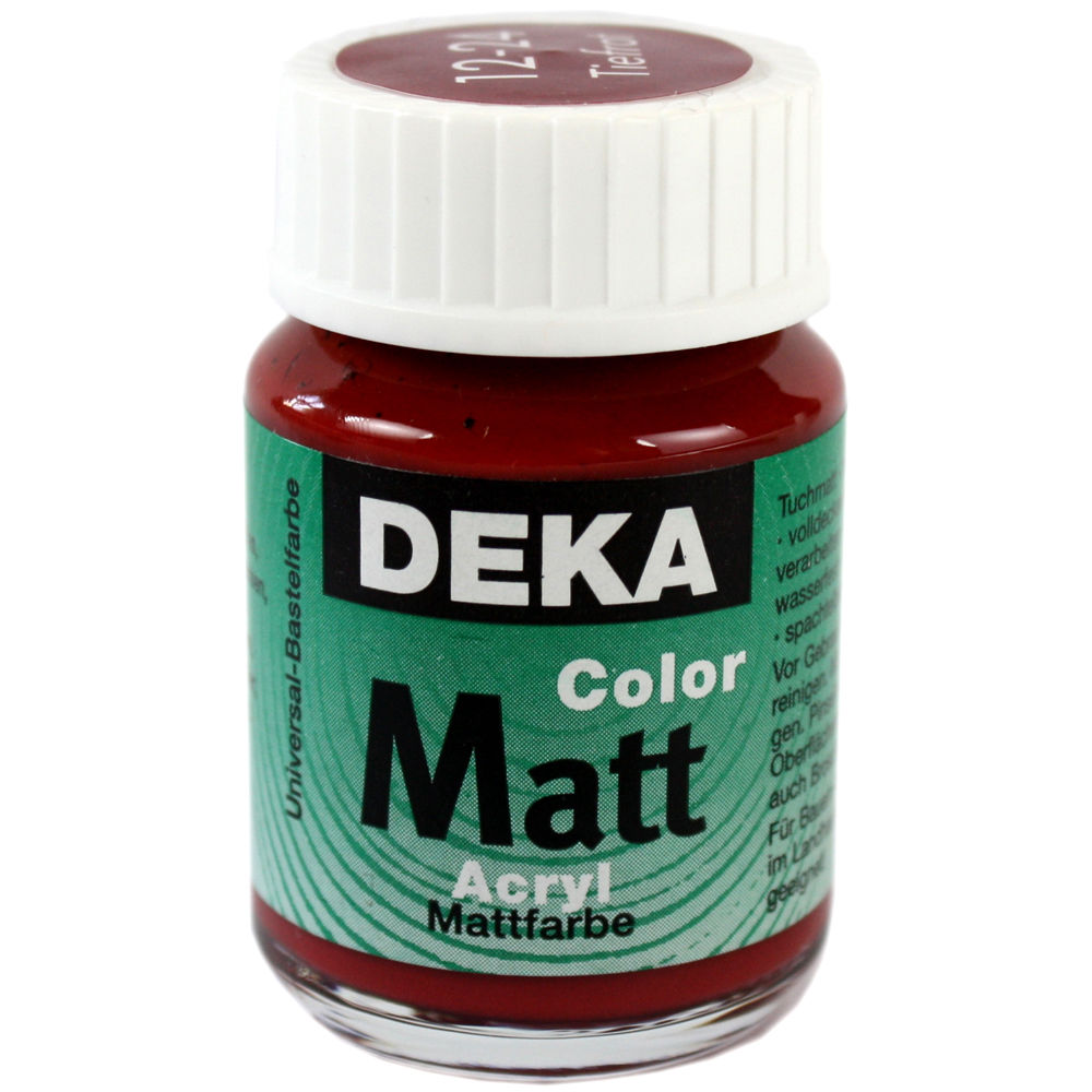 Hobbyfärg DEKA ColorMatt 50 ml Bordeaux  1224 (6F)