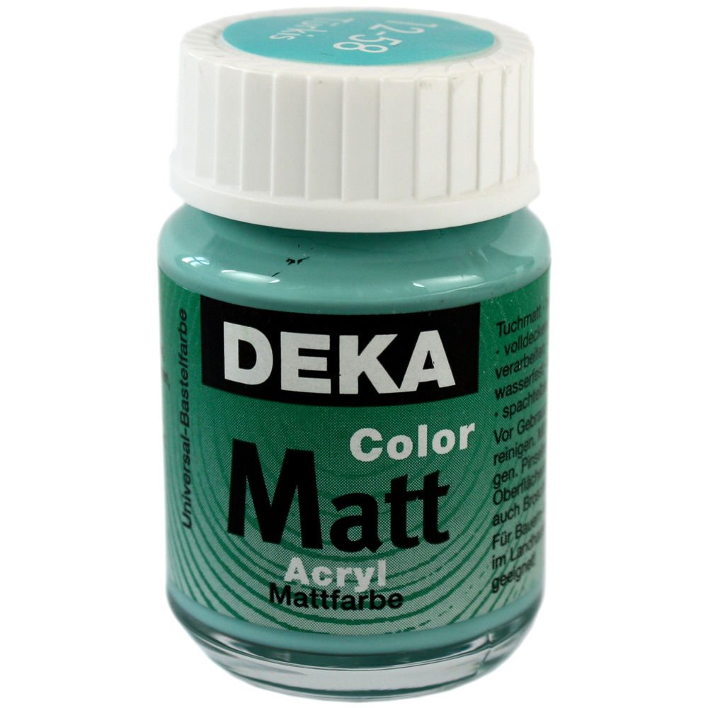 Hobbyfärg DEKA ColorMatt 50 ml Turkos  1258 (6F)