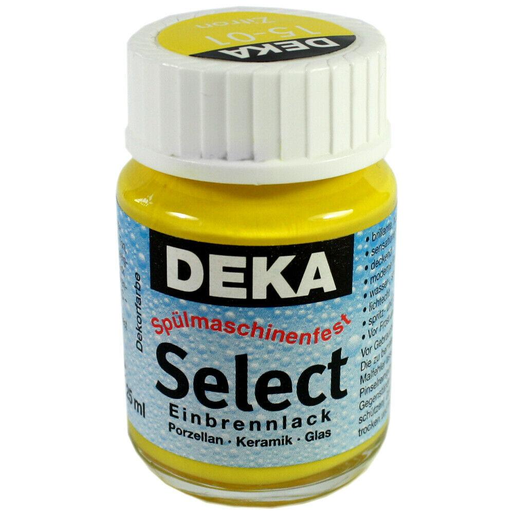 Porslinfärg DEKA Select 25 ml Zitron  1501 (6F)