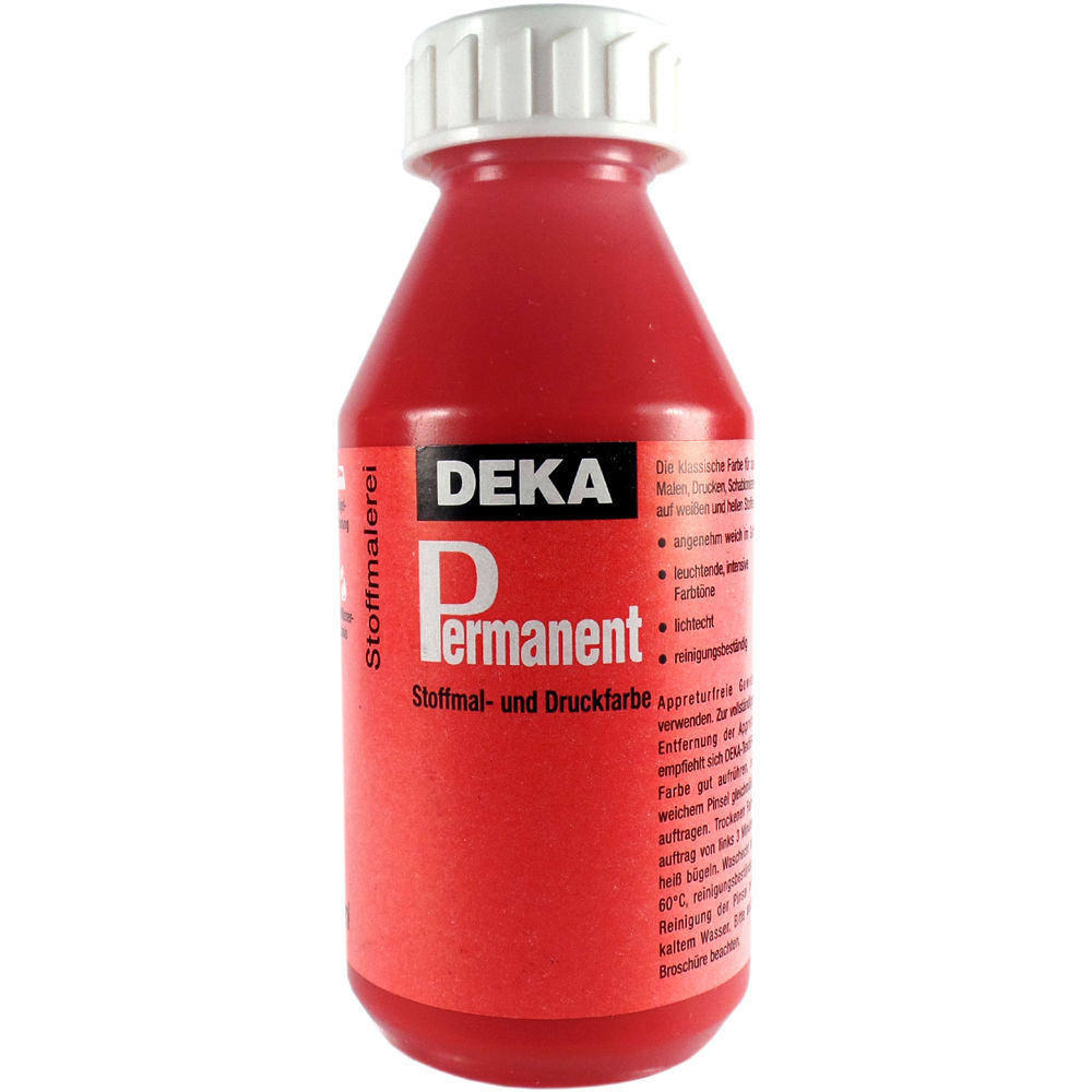 Tygfärg DEKA Perm. 125 ml Vallmoröd  2018