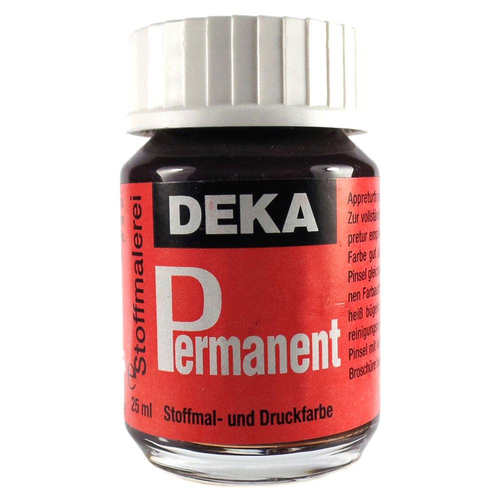 Tygfärg DEKA Perm. 50 ml Mörkbrun  2085 (6F)