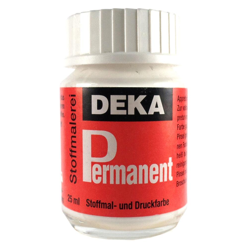 Tygfärg DEKA Perm. 50 ml Vit  2092 (6F)