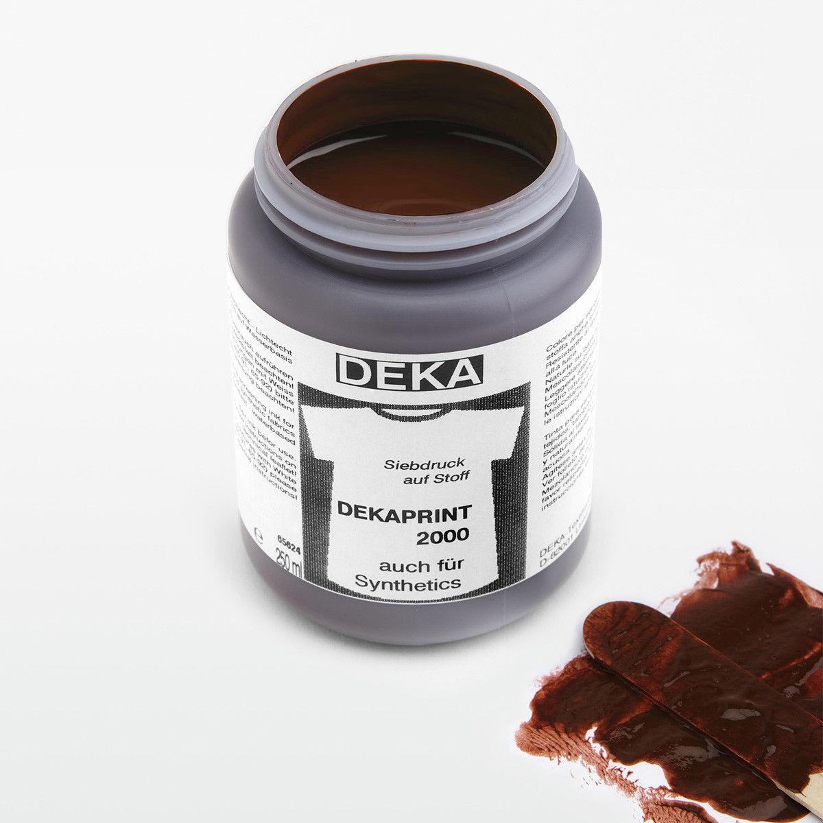 Tygfärg DEKA Print 250 ml Mörkbrun 65685