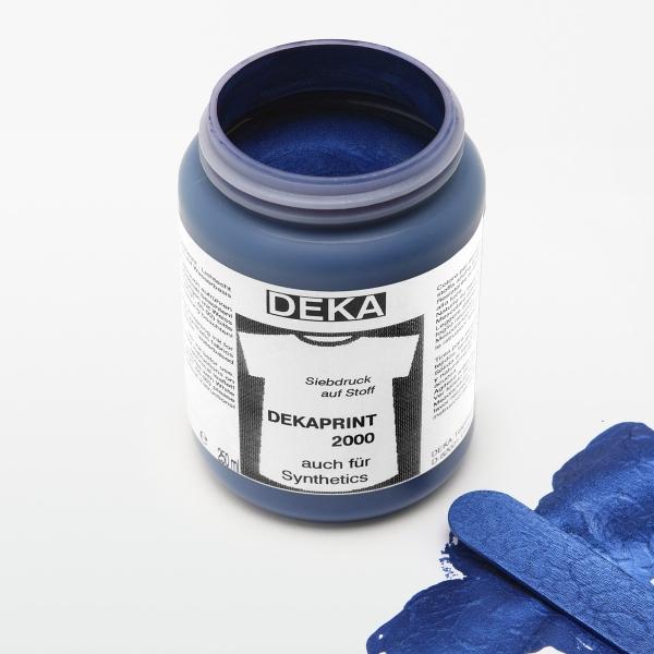 Tygfärg DEKA Print 250 ml Met. Mörkblå  6753