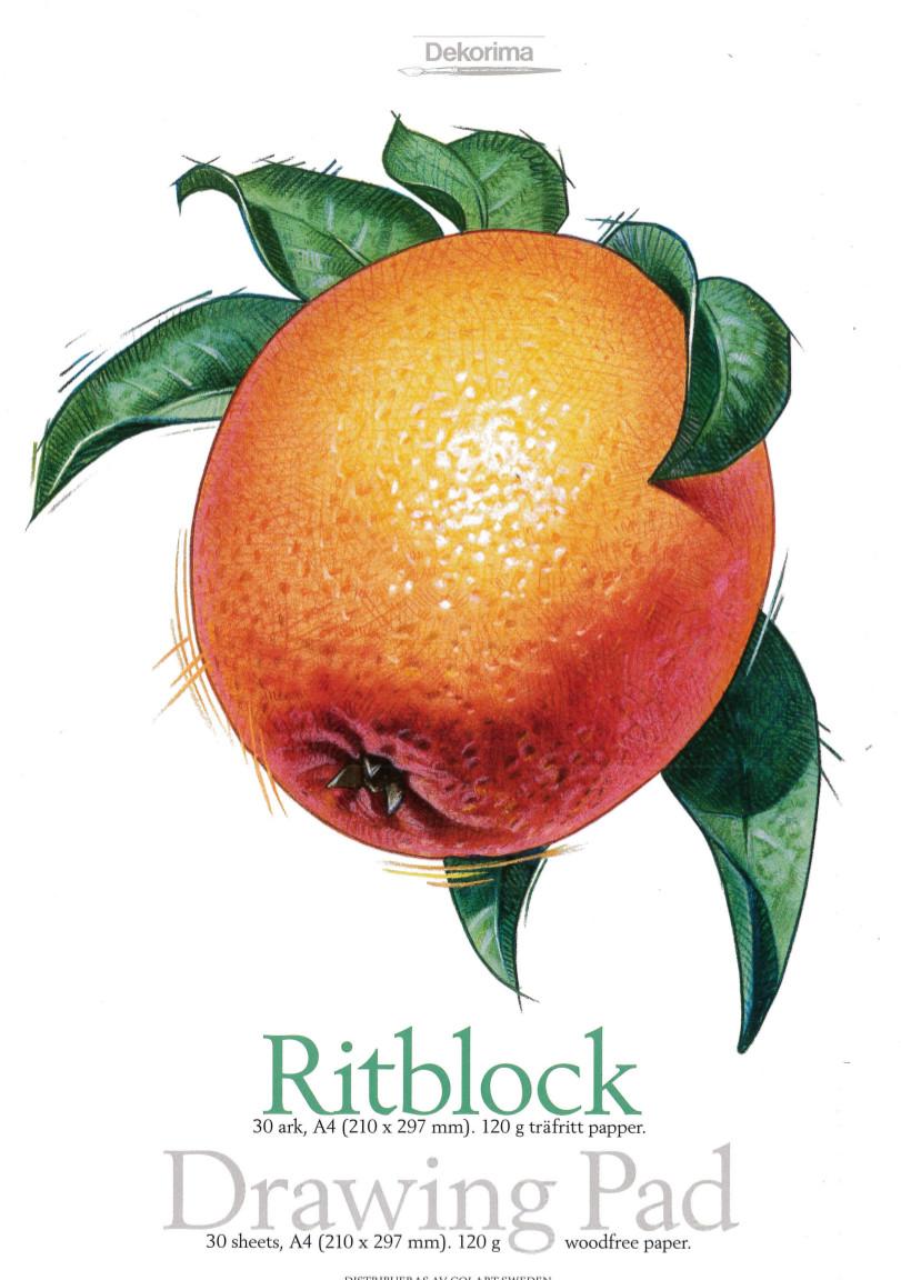 Ritblock Dekorima apelsin 30ark 120g A5 (10F) utgår