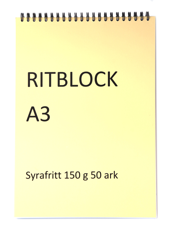 Ritblock Edixon 150g Spiral A3 50 ark