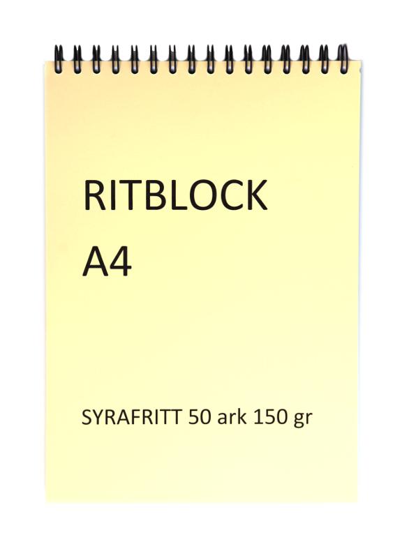 Ritblock Edixon 150g Spiral A4 50 ark