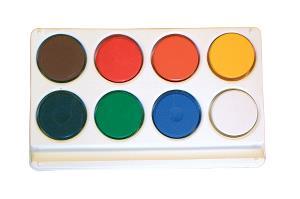 Barnfärg Temperapuckar  8 sorterade  i plastpalett