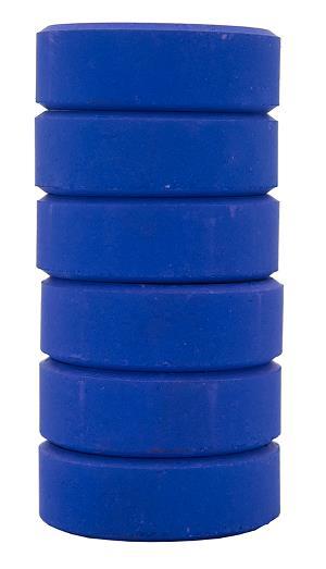 Barnfärg Temperapuck 57x19mm Blå 6-p