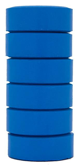 Barnfärg Temperapuck 57x19mm Ljusblå 6-p