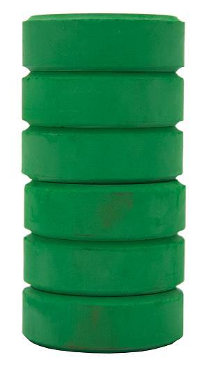 Barnfärg Temperapuck 57x19mm Grön 6-p