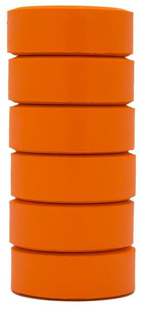 Barnfärg Temperapuck 57x19mm Orange 6-p