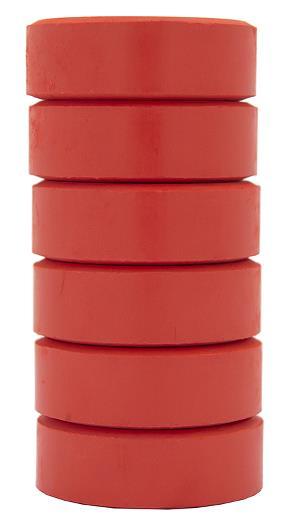 Barnfärg Temperapuck 57x19mm Röd 6-p