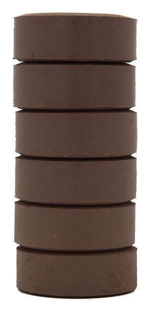 Barnfärg Temperapuck 57x19mm Mörkbrun 6-p