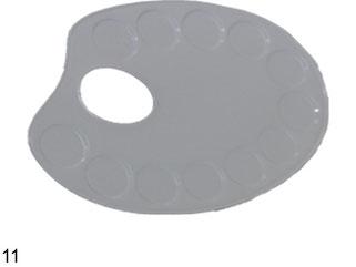 Palett oval. i metall 13x18cm