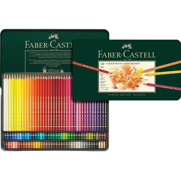 Färgpennset Faber-Castell POLYCHROMOS 120 pennor