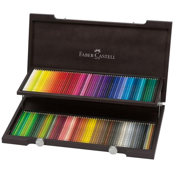 Färgpennset Faber-Castell POLYCHROMOS 120 pennor Träskrin