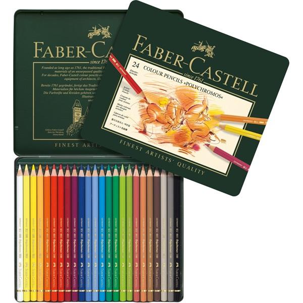 Färgpennset Faber-Castell POLYCHROMOS 24 pennor 9212 (2F)