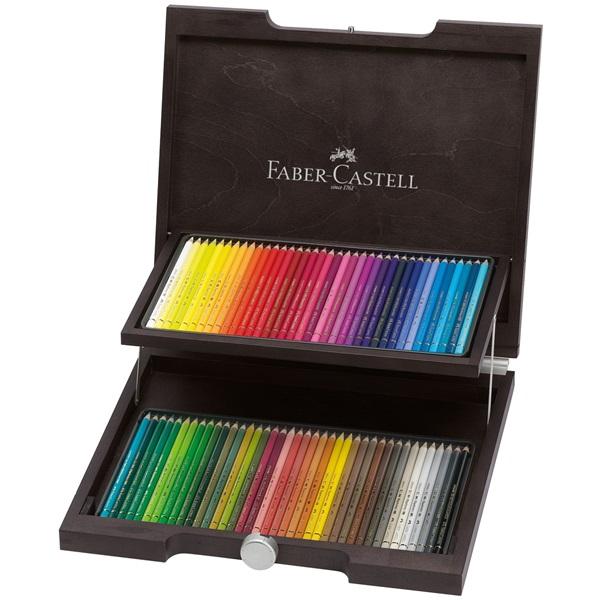 Färgpennset Faber-Castell POLYCHROMOS 72 pennor Träskrin