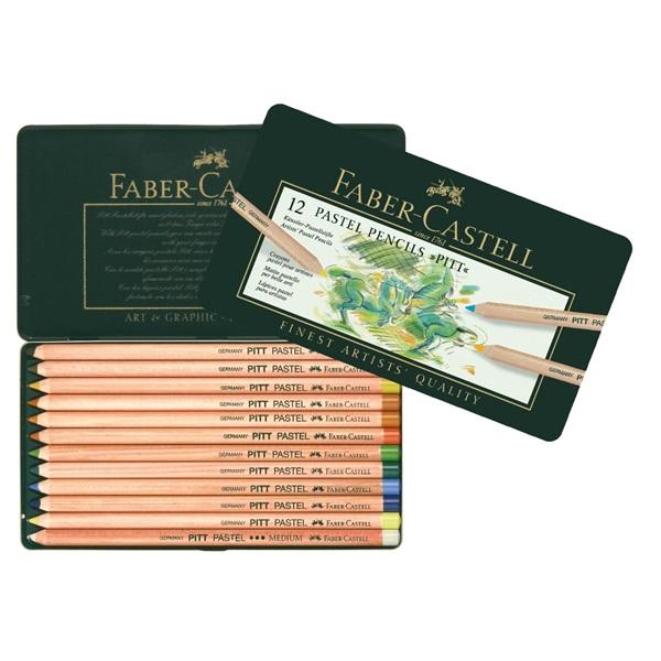 PastellPennset Faber-Castell PITT 12 pennor (3F)