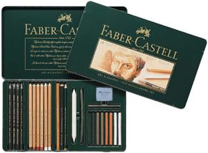 Ritkolspennset Faber-Castell PITT MONOCHROME Set 33 delar