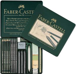 Ritkolspennset Faber-Castell PITT Grafitset  (2F)
