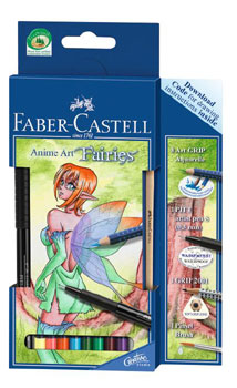 Akvarellpenset Faber-Castell ArtGrip Anime Art Fairies #