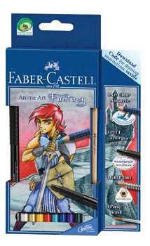 Akvarellpenset Faber-Castell ArtGrip Anime Art Fantasy (5F)