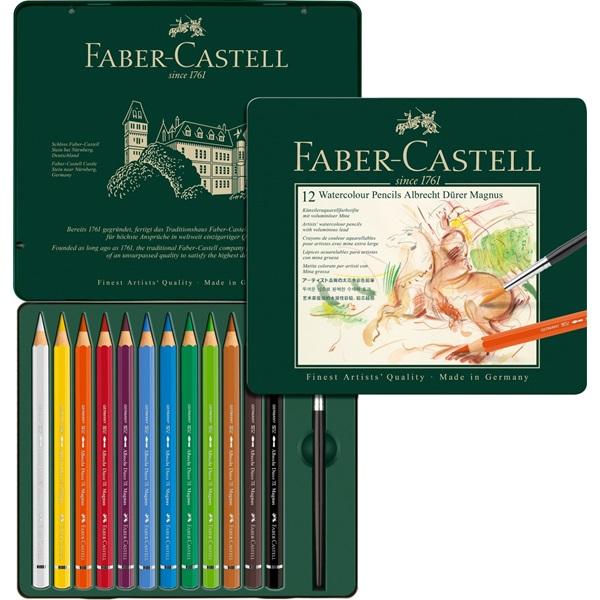Akvarellpennset Faber-Castell Albrecht Dürer Magnus 12 Pennor (3F)