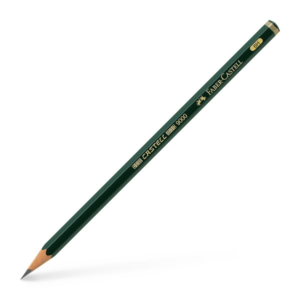 Blyertspenna  Faber-Castell 9000 6H (12F)