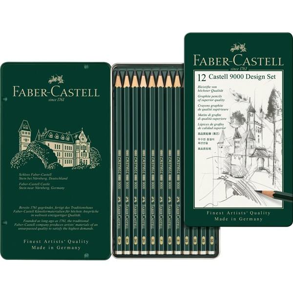 Blyertset  Faber-Castell 9000 DESIGN SET (5F)