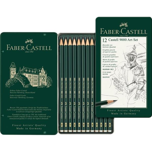 Blyertset Faber-Castell 9000 ART SET (5F)