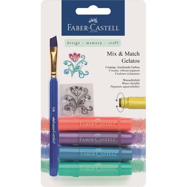 Krita Gelatos Faber-Castell Metallics 4 kritor, tropical (5F)