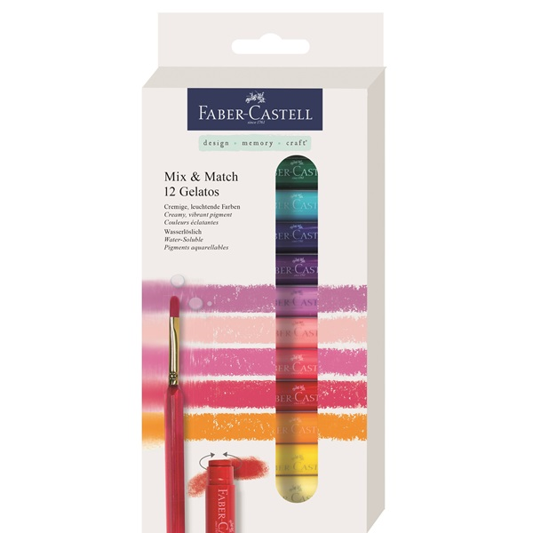 Krita Gelatos Faber-Castell metallic sets (5F)