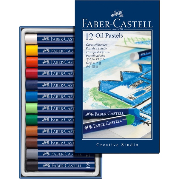 OljePastellset Faber-Castell GoldFaber Set 12 kritor (6F)