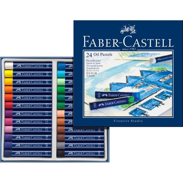 OljePastelset Faber-Castell GoldFaber Set 24 kritor (3F)