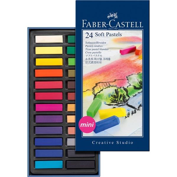 SoftPastelset Faber-Castell GoldFaber 24 set Halvlängdskritor