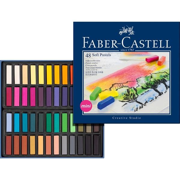 SoftPastelset Faber-Castell GoldFaber 48 set Halvlängdskritor