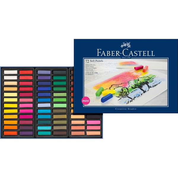 SoftPastelset Faber-Castell GoldFaber 72 set Halvlängdskritor